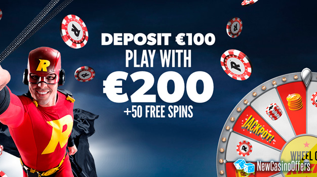 As a new player, you get a total of € 200 in cash with a € 100 deposit and 50 free spins on the deal