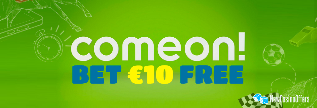ComeOn offers a free € 10 bet every month for virtual sports