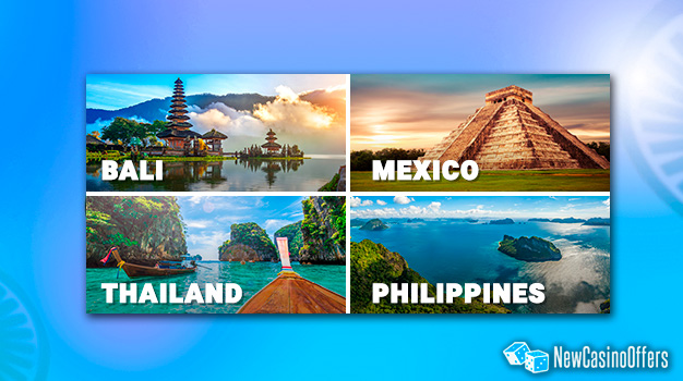 You can win a real luxury holidays to Mexico, Bali, Thailand or the Philippines.